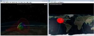 Simulace orbitu a komunikace s pozemní stanicí