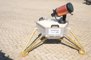 lander in the field